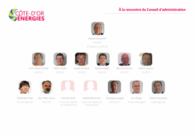 Organigramme conseil d administration cote d or energies 2019